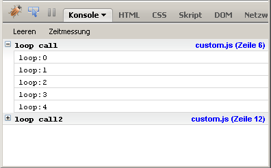 Unterschied console.group() und console.groupCollapsed()